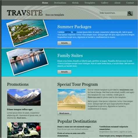 templates for travel website travel free website templates in css html js format for