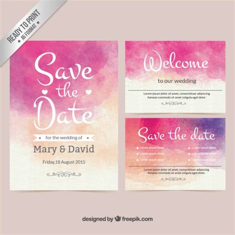 hochzeitseinladung aquarell invitation card vectors photos and psd files free