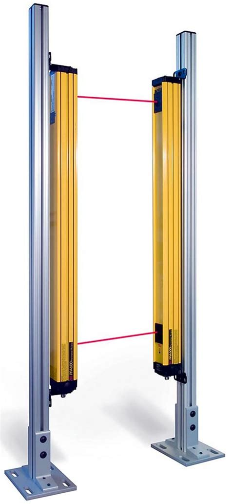 safety light curtains light duty floor stands provides low cost solution for