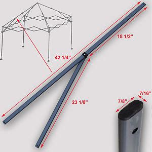 Quik Shade Instant Canopy Replacement Parts by Quik Shade Expedition 10 X10 Instant Canopy 2 Peak Truss