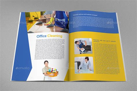 cleaning services brochure template 16 pages by