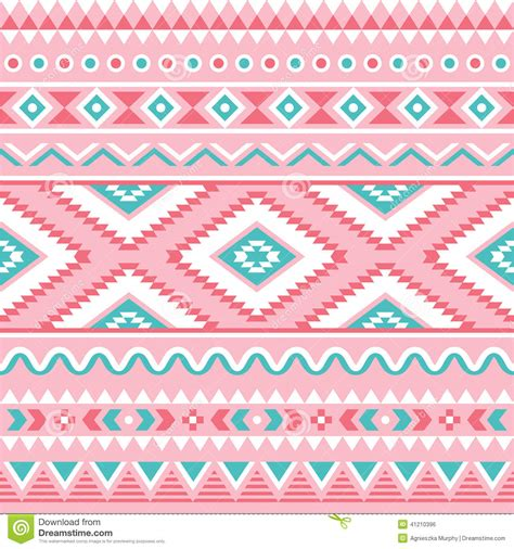tribal pattern pink and blue tribal seamless pattern aztec pink and green background
