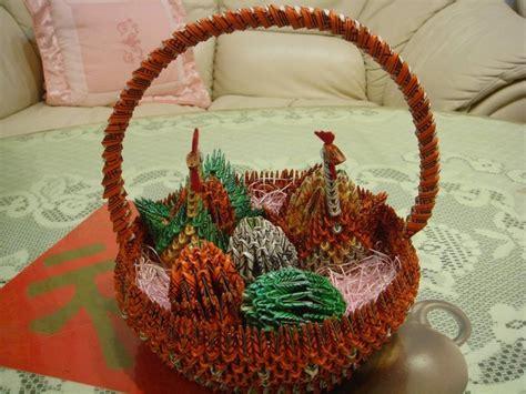 Origami Gift Basket - 3d origami origami gift basket block folding