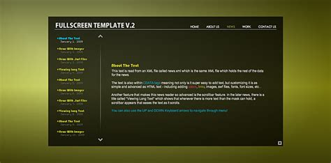 xml templates for website free download worthy of site wide flash xml page template over