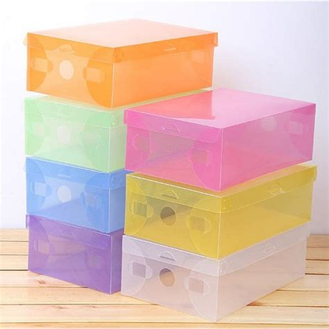 Kotak Kado Warna Hitam Pakai Sekat jual box sepatu bahan plastik kotak sepatu warna warni my alfa