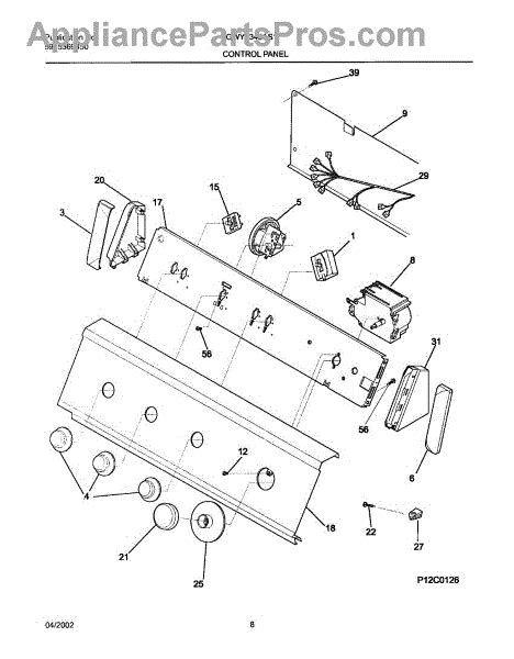 parts for gibson gwy1343as1 panel parts
