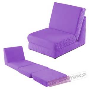 Armchair Pull Out Bed Purple Folding Z Bed Single Chair Bed 2 Seat Sofa Fold Out
