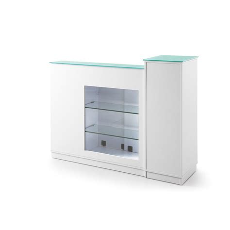 salon reception desk with glass display reception desk with display shelve salon furniture