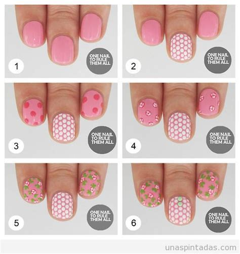 google imagenes de uñas pintadas u 241 as decoradas paso a paso taringa