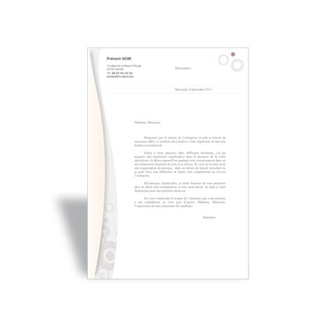 Lettre De Motivation De Marketing Mod 232 Le Lettre De Motivation Commercial 224 T 233 L 233 Charger Format Word
