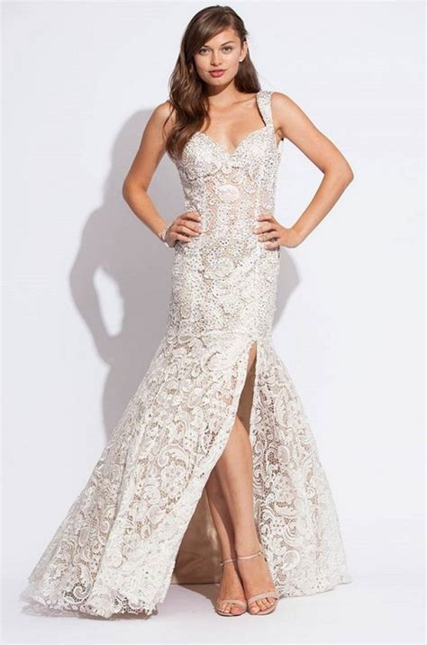 white lace prom dress lace prom dress dressed up