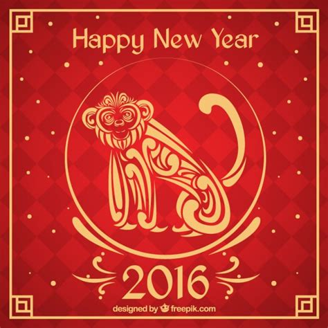 new year golden monkey new year background with an ornamental monkey