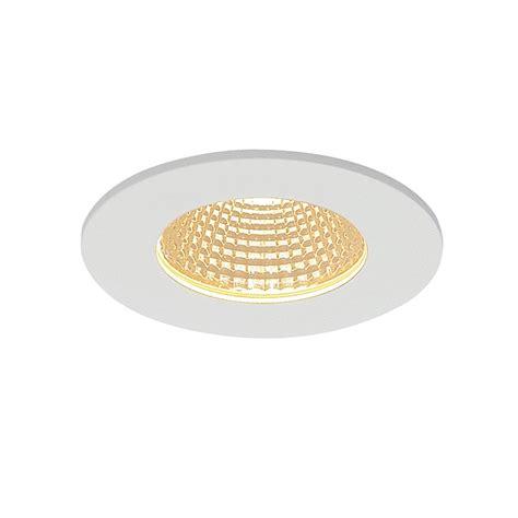 circle matt white patta f recessed ceiling light matt white 9w 38