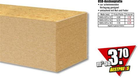 Usb Platten Verlegen by Osb Ausbauplatte B1 Discount Ansehen