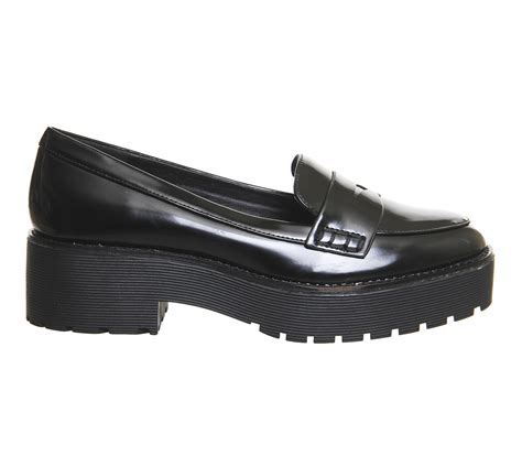 chunky loafers office reaction chunky loafers in black lyst