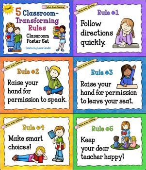 classroom layout rules whole brain teaching classroom rules posters free