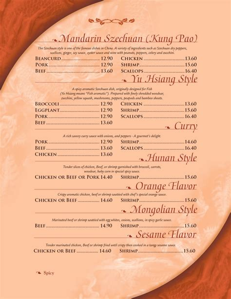 Quans Kitchen Mansfield by Quans Kitchen Menu Page 6 Mandarin Szechuan