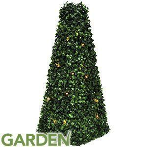 artificial pyramid cone tree with solar powered led lights