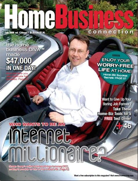 cover of the quot home business connection quot magazine july 2009