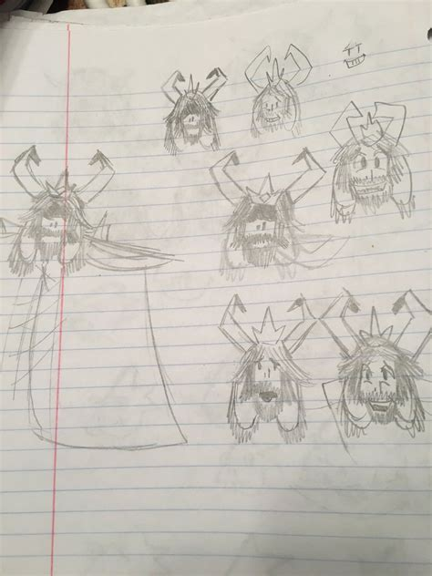 R Sketches by Toby Fox S Drawings Of Alphys Asgore And Undyne