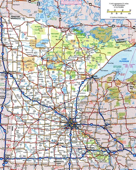 map of mn highways large detailed roads and highways map of minnesota state