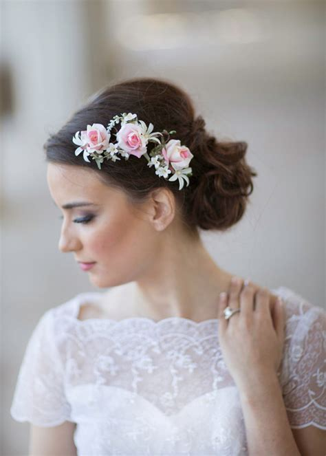 Small Dot Hair Accessories For Weddings by Pink Wedding Flower Bridal Hair Accessories 2228563