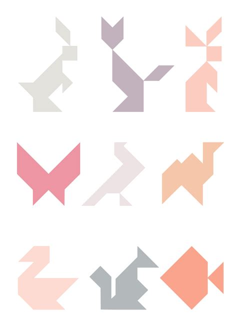 printable shapes puzzle silhouette uk tangram puzzle fridge magnets with free cut