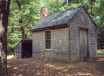 Thoreaus Cabin by Thoreau S Cabin At Walden Pond Near Concord Massachusetts