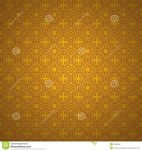 heart pattern gold heart pattern on gold background stock photography