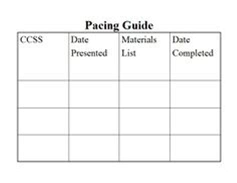 pacing calendar template for teachers pacing guide kindergarten and student centered resources