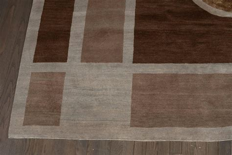 deco style rugs deco style nepalese knotted carpet rug in hues of brown topaz for sale at 1stdibs
