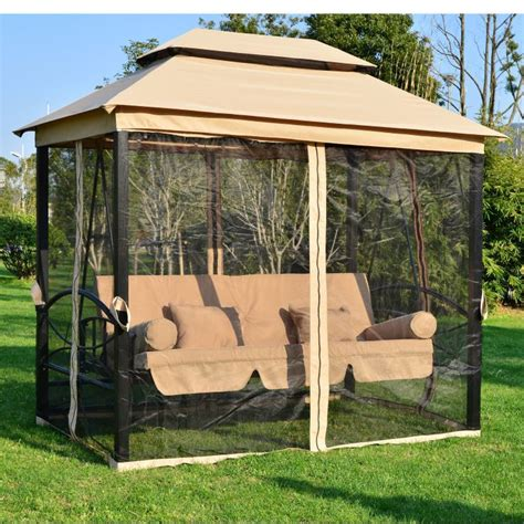 canopy tent bench swing seat chair daybed outdoor patio