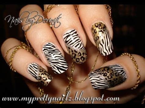 zebra nail art and tutorial easy hot leopard zebra animal print nail art stamping