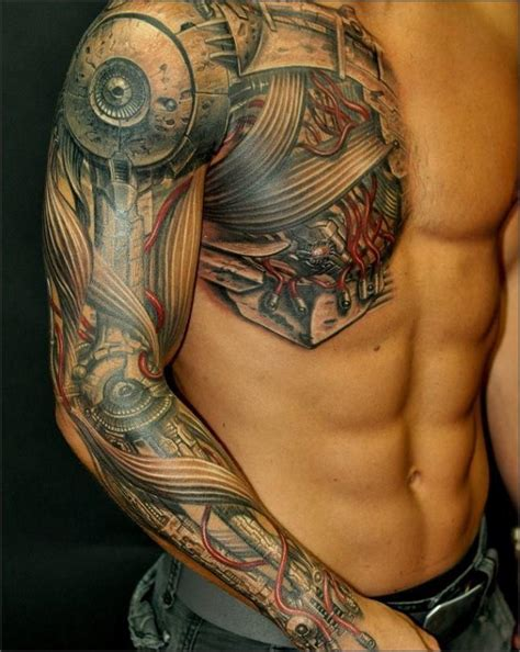 tattoo on arm and shoulder tattoo art cyborg tattoos photos