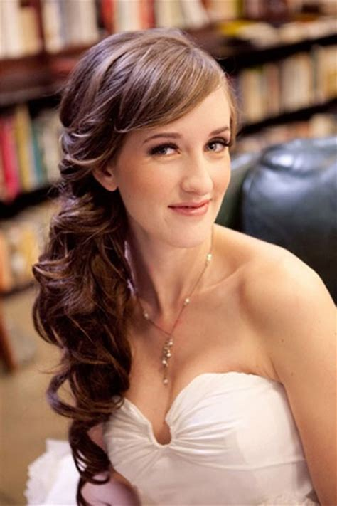 Wedding Hairstyles To The Side Curly by Curly Wedding Hairstyle To The Side For Ipunya