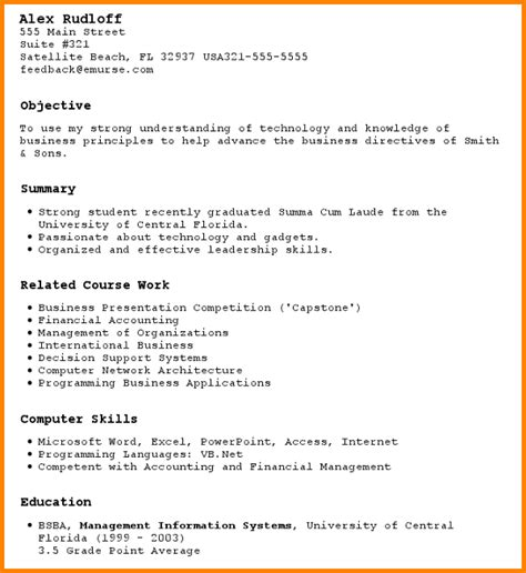 resume for someone with no work experience sle a resume with no experience resume for no