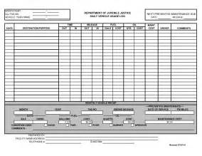 excel log sheet template best photos of template of vehicle usage form printable