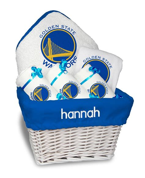 Gifts Designed For Mba Golden State Warriors by Personalized Golden State Warriors Medium Gift Basket