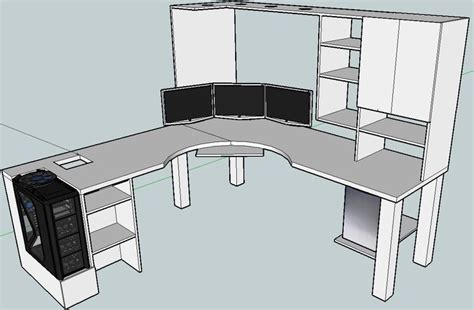how to build an l shaped desk from scratch blkfxx s computer desk build home office pinterest