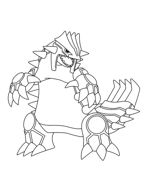 coloring pages pokemon groudon pokemon dibujos para colorear