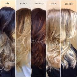 melting hair color ideas colour chart ash and caramel color on