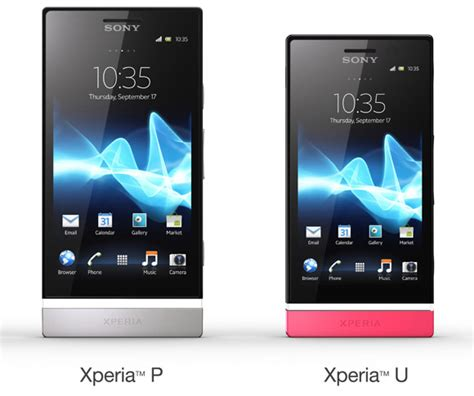 sony mobile xperia u sony mobile introduces xperia u and xperia p android