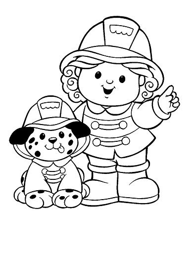 firemen colouring pages
