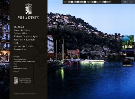 luxury website design villa d este luxury hotel hotels css showcase