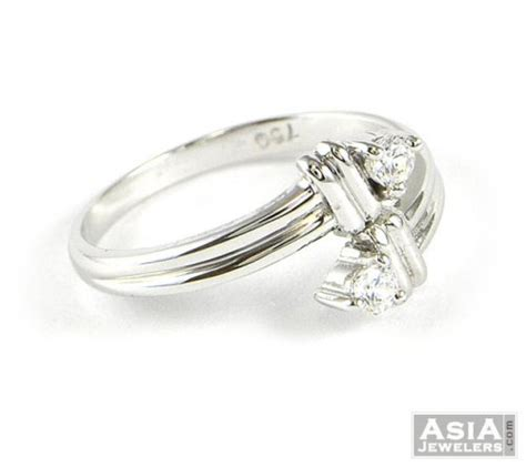 white gold simple ring ajri51661 18k white gold simple