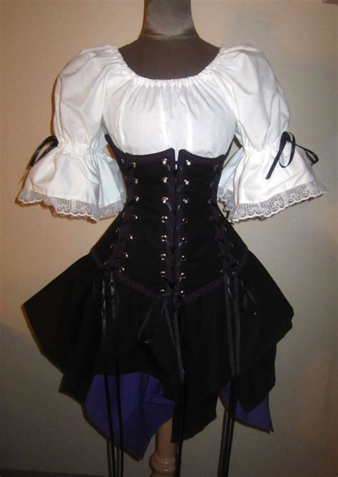 pattern black swashbuckler s shirt 135 best images about corset outfits on pinterest