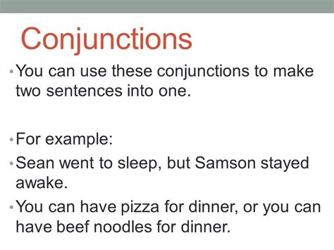exle of conjunction conjunctions and complex sentences ppt
