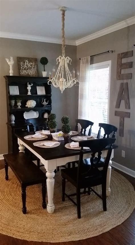 Distressed Black Dining Room Table Rustic Farmhouse Dining Room Home Decor Chalk Painted Dining Table Black Distressed Hutch