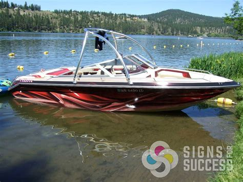 regal boat graphics in or out of the water a boat wrap with custom graphics