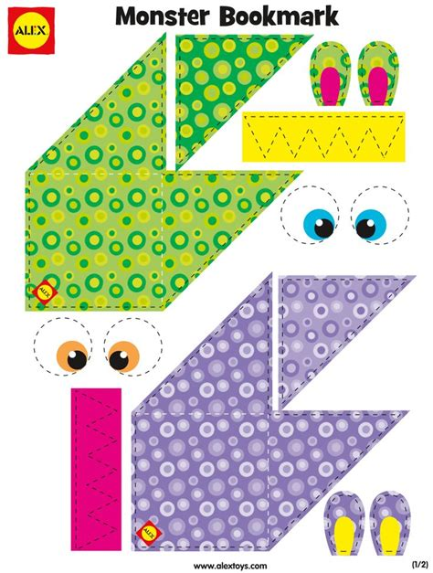 printable monster bookmarks 857 best images about printables for kids on pinterest